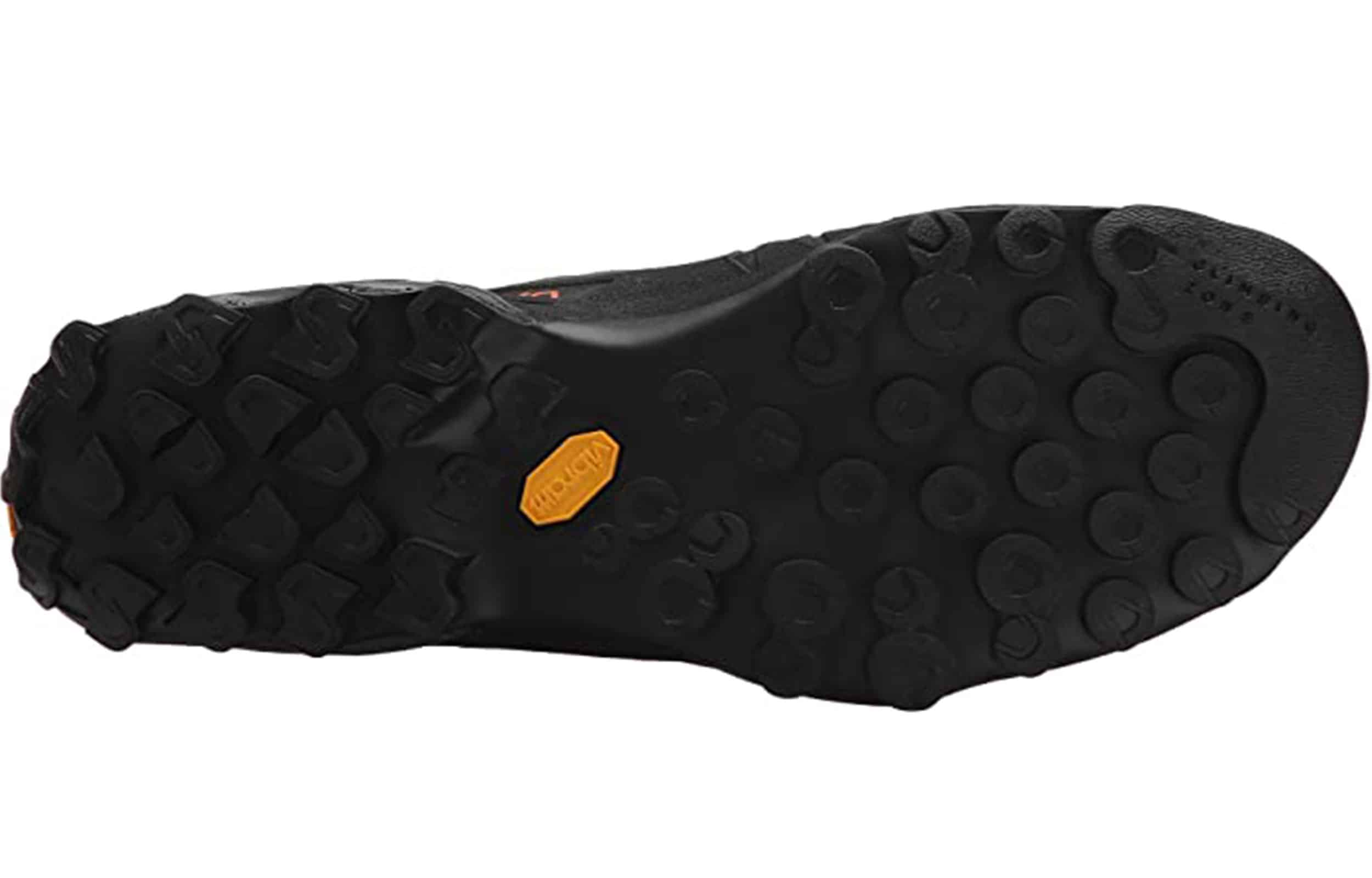 sole view of a la sportiva tx4 mid gtx hiking boots