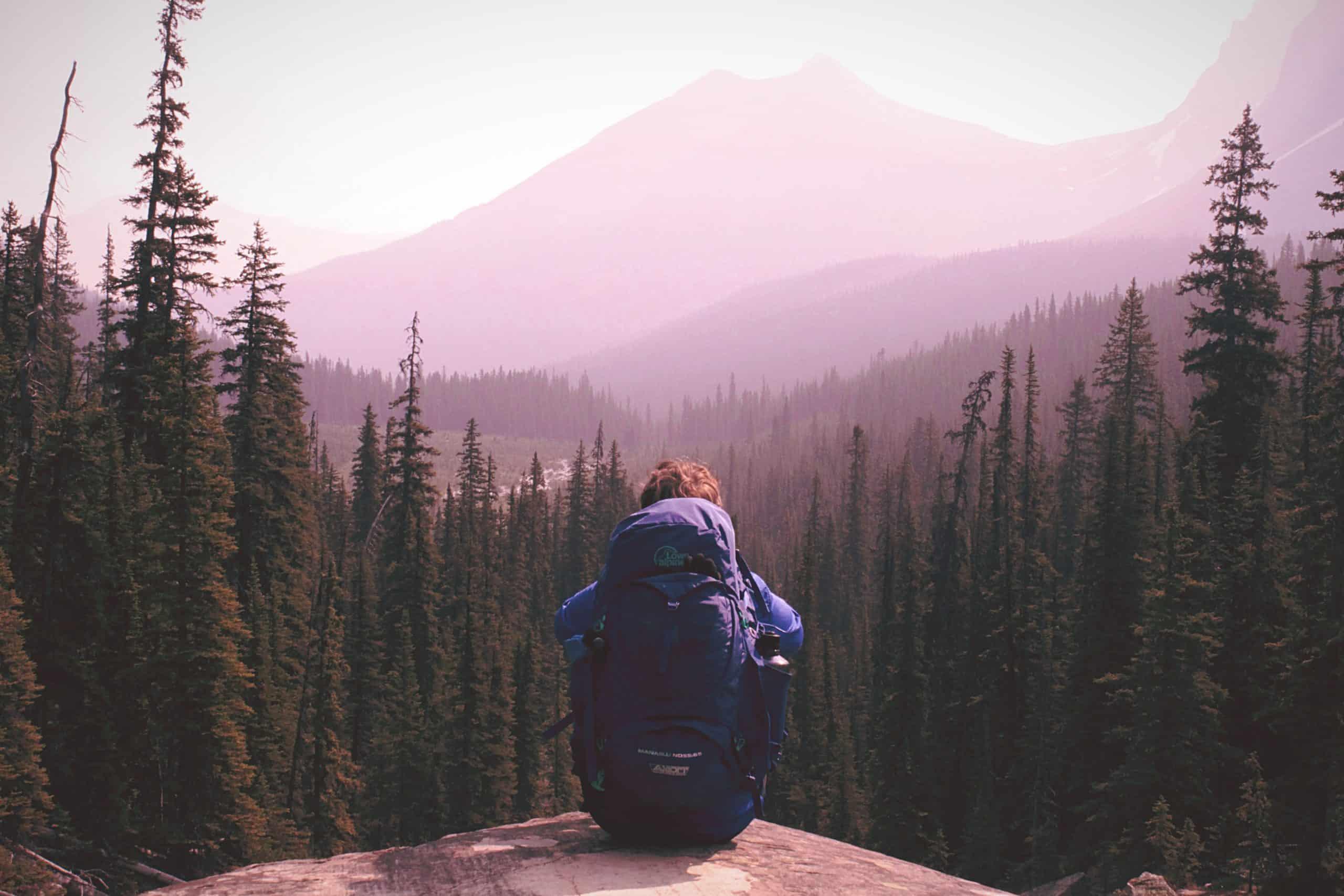Girl Backpack Mountain