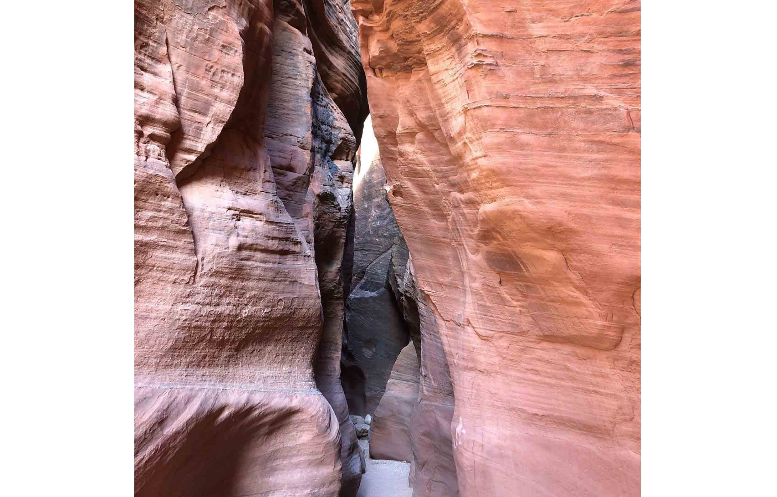 utah hiking canyon slot view of the buckskin gulch wire pass