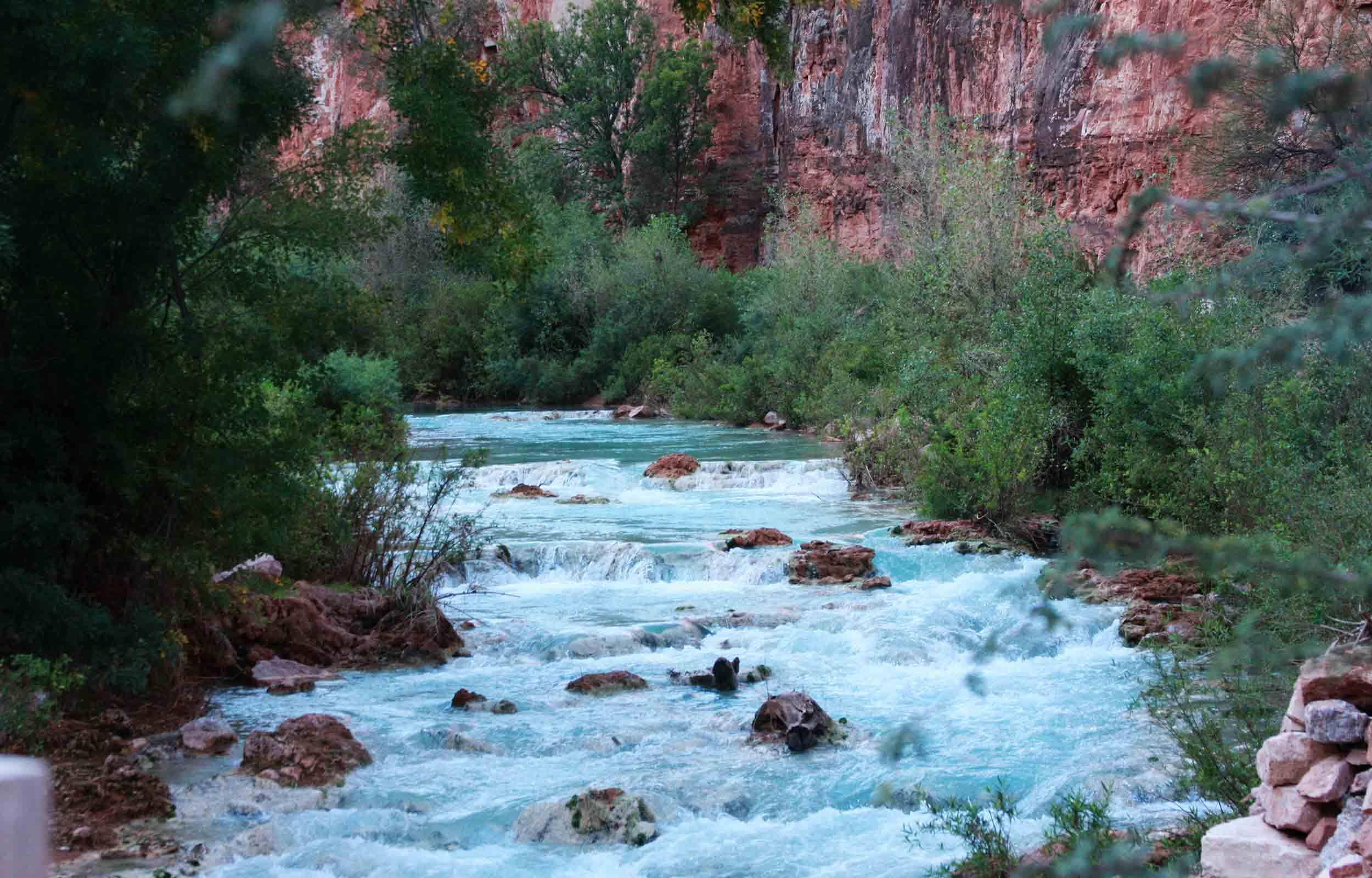 river on the havasupai trail