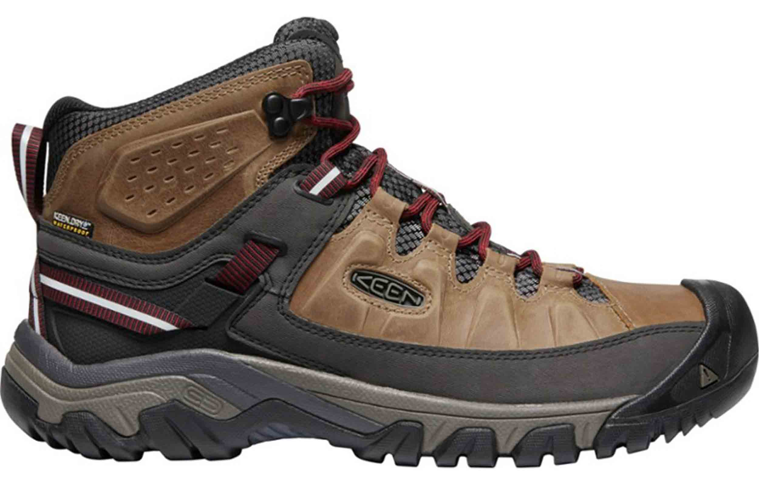 side view of keen targhee iii boots