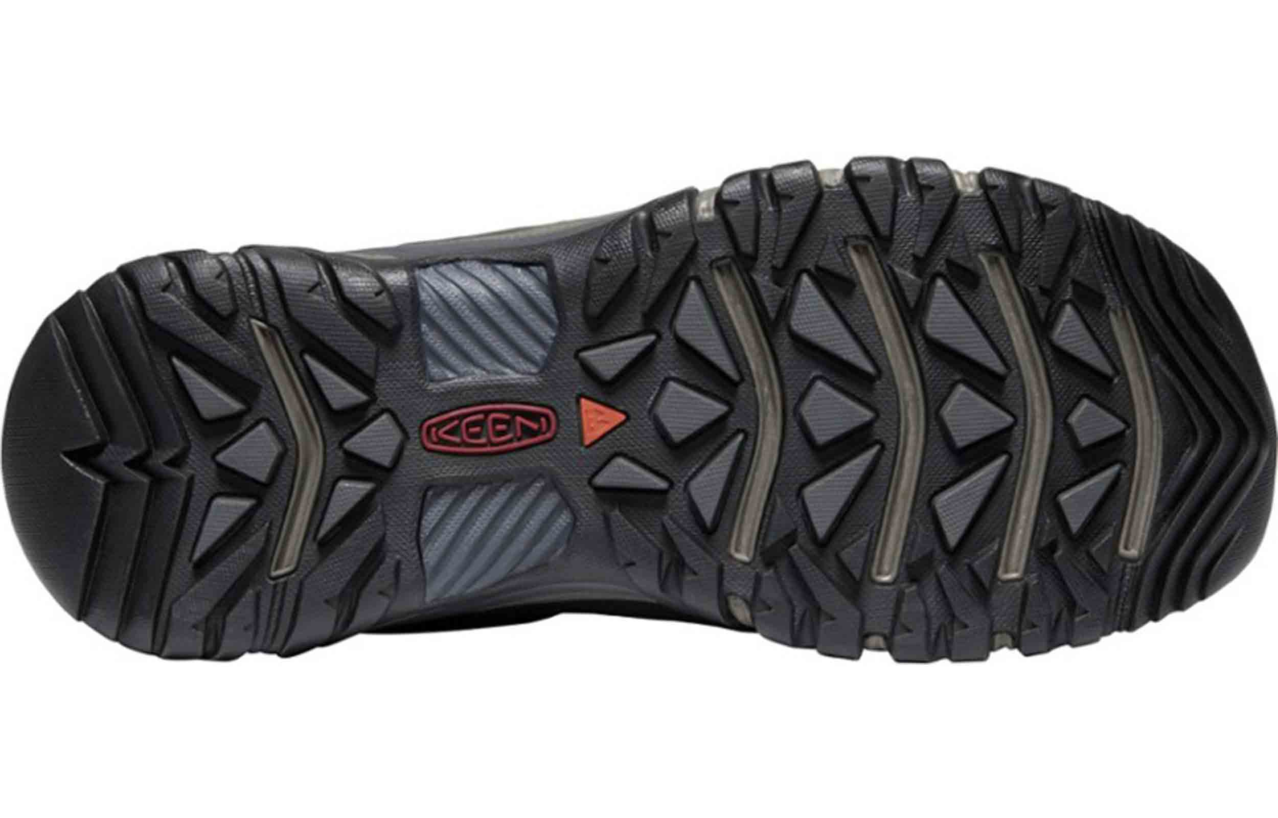 sole view of keen targhee iii boots