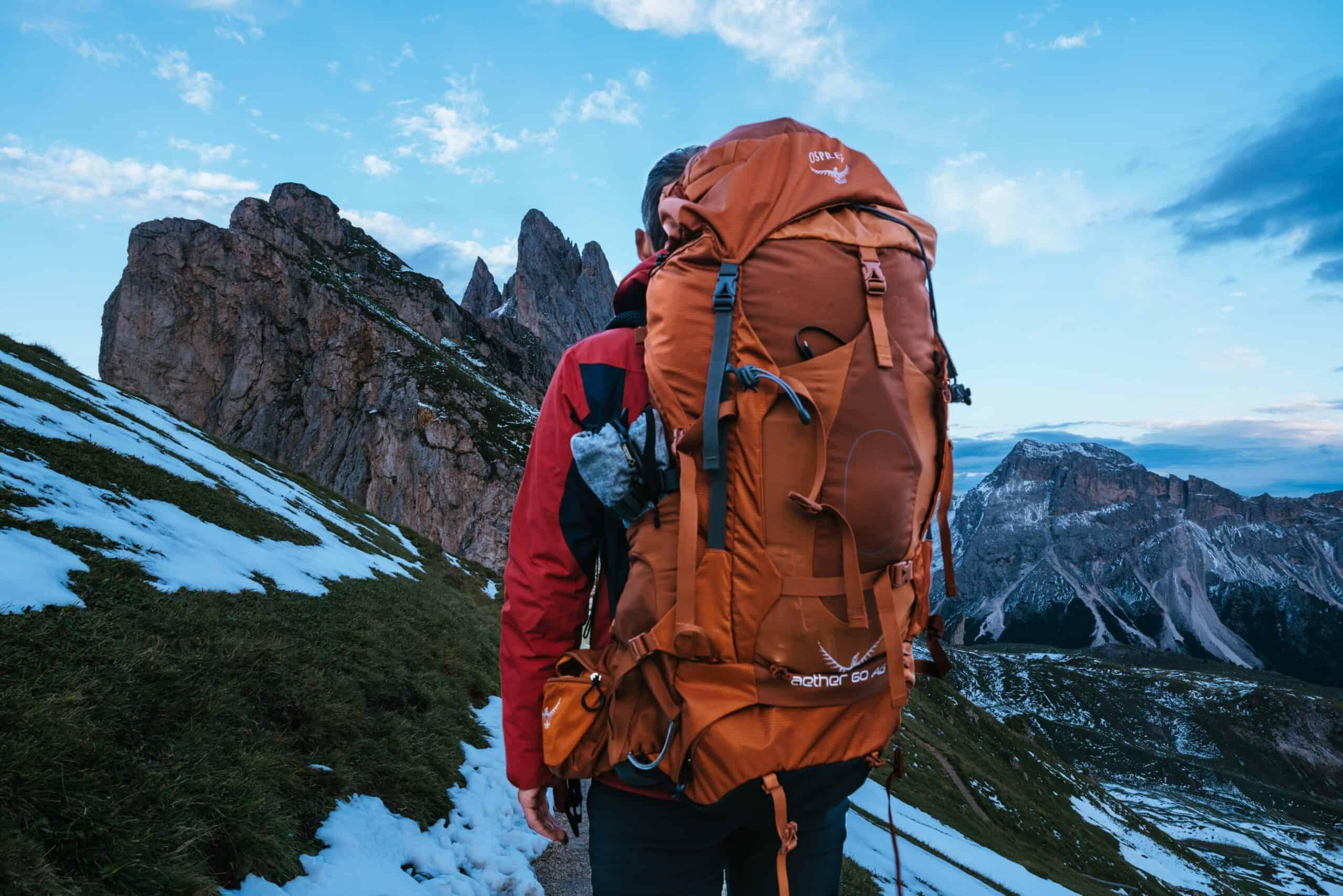 Osprey orange backpack hiking outdoor