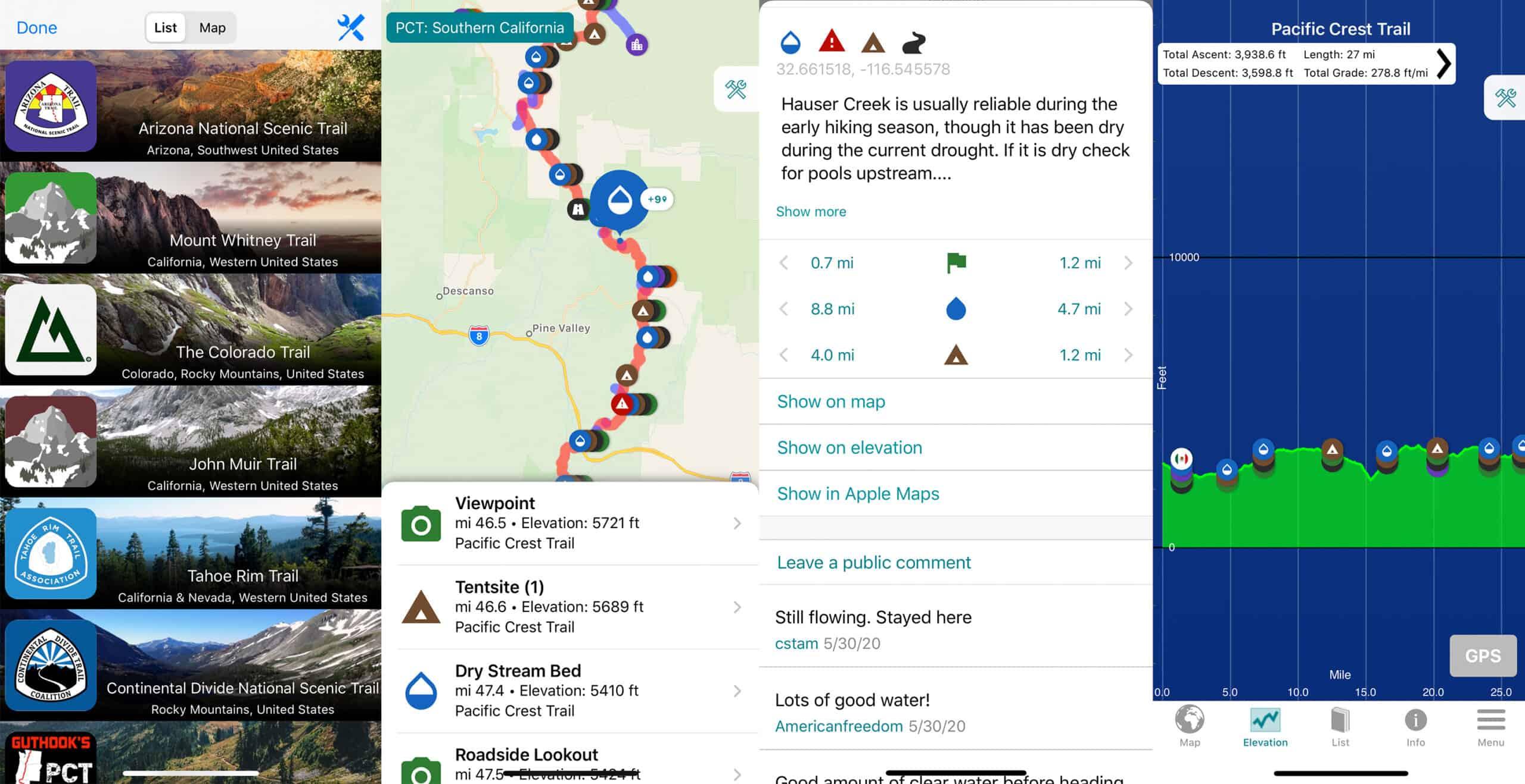 guthook hiking app