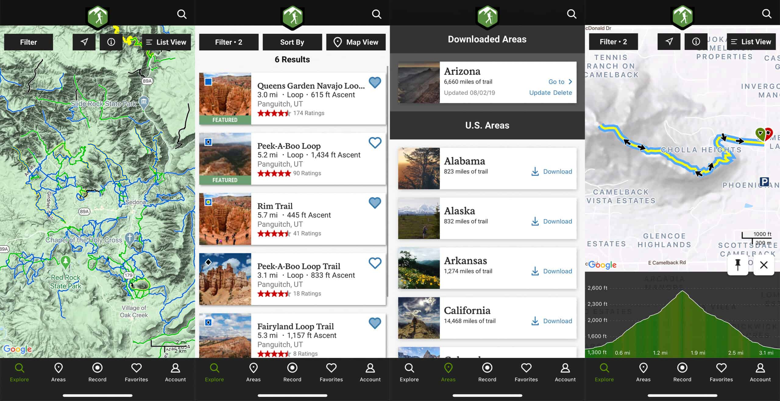 hiking project hiking app