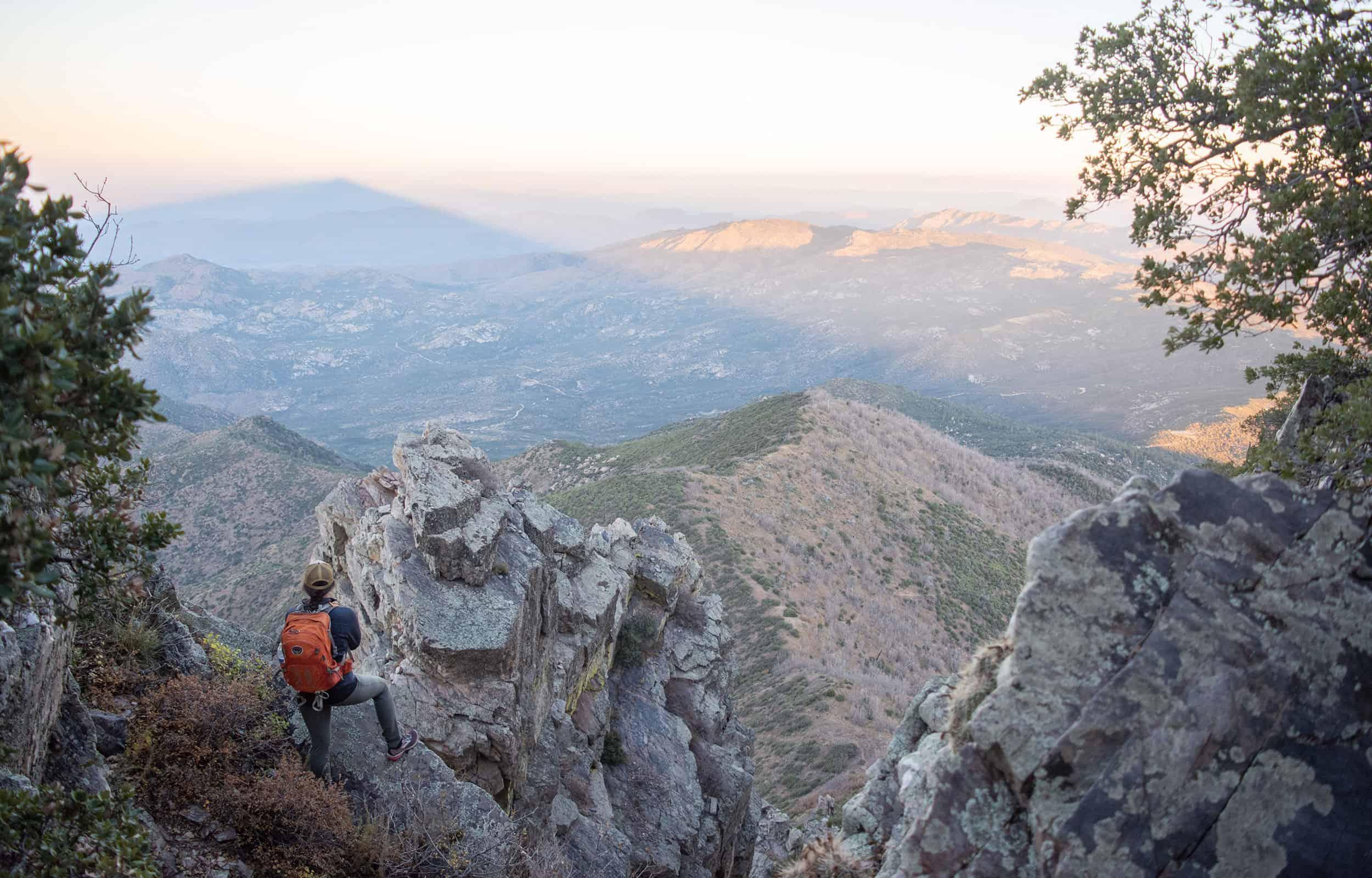 top view of Brown's peak in arizona