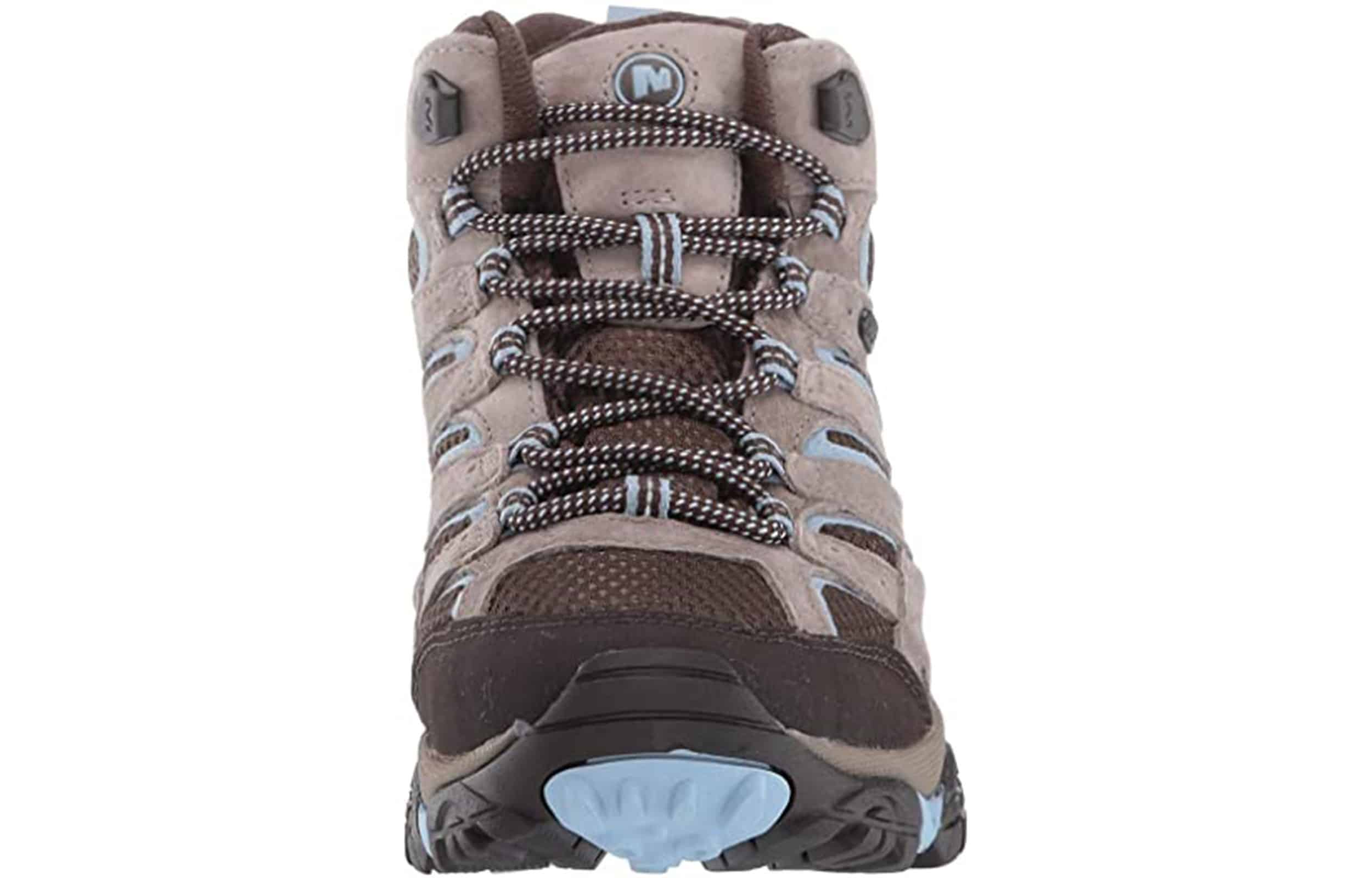 front view of merrell moab 2 hiking boots