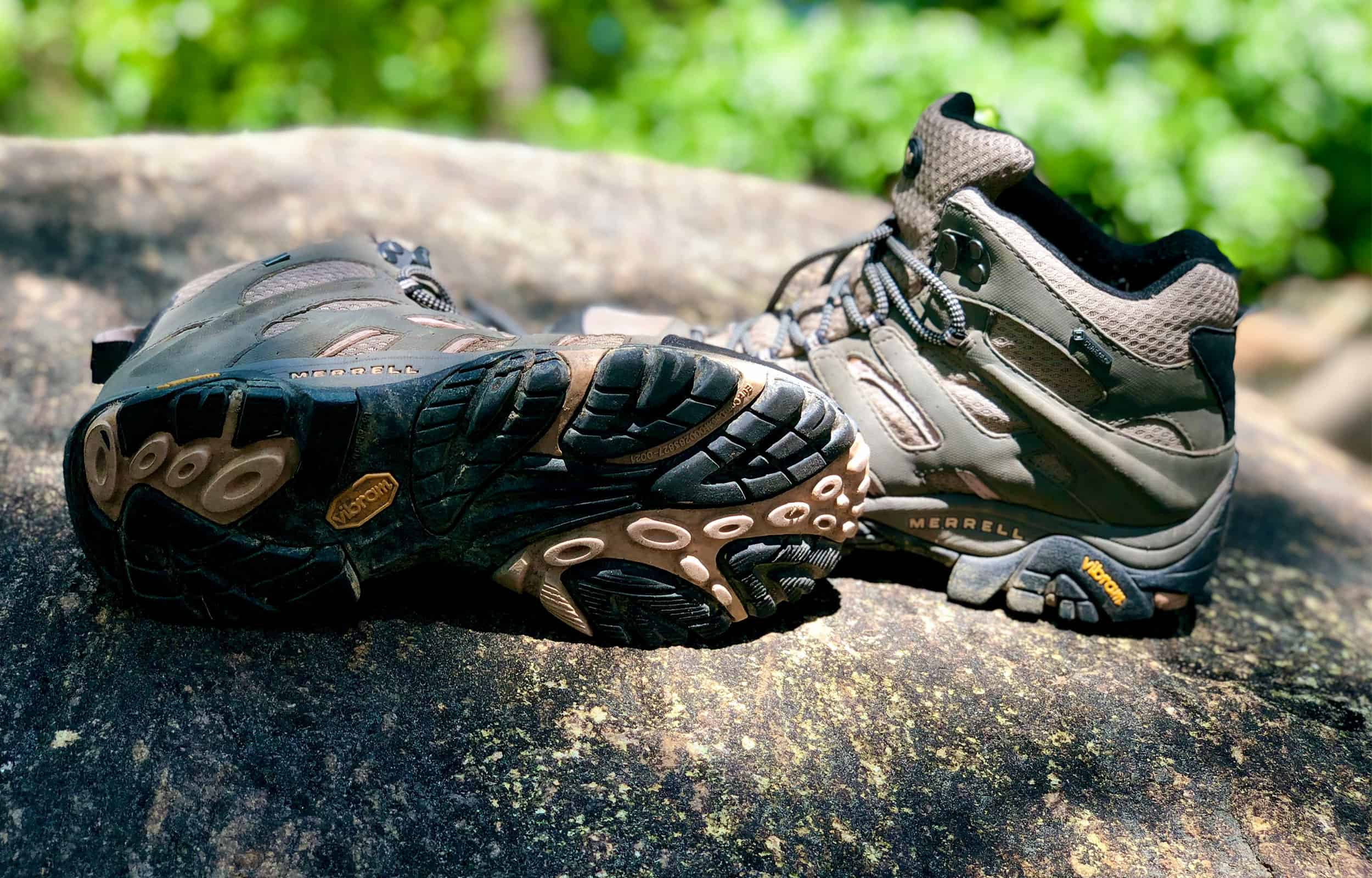 sole view of merrell moab 2 hiking boots