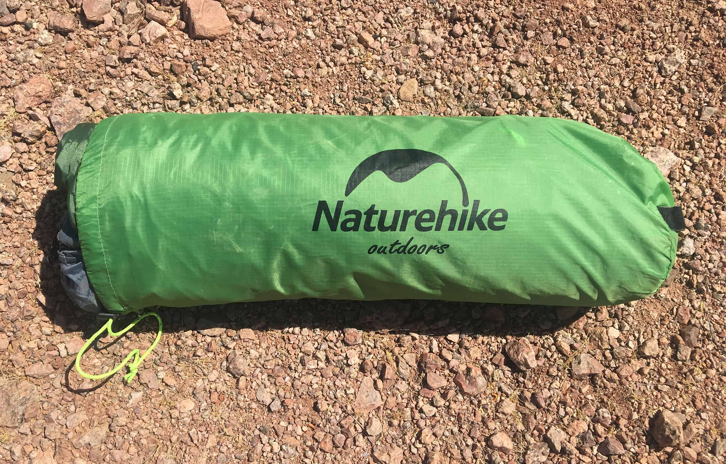 pack size of naturehike cloud up 2 tent