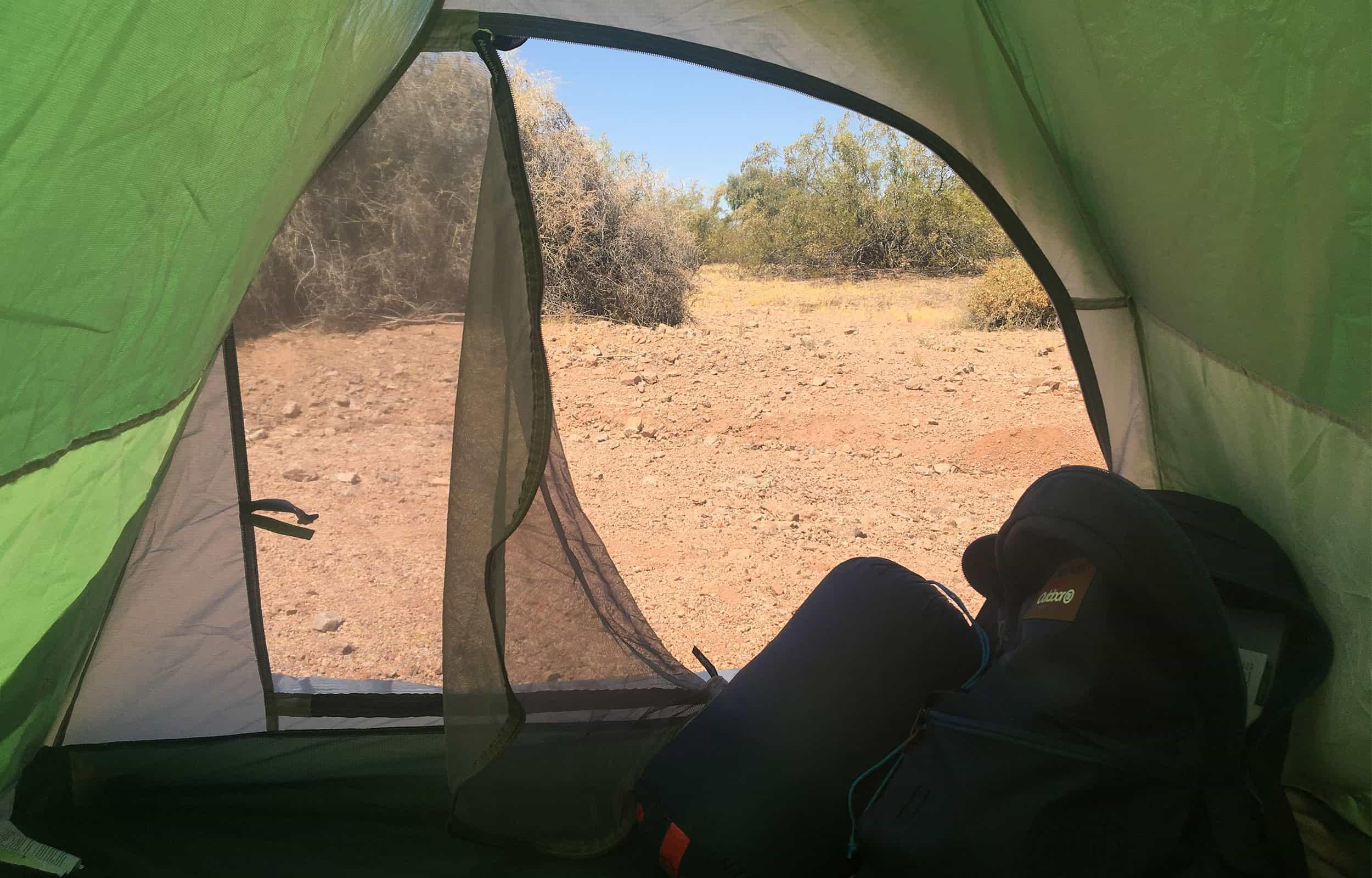 inside of Naturehike cloud up 2 tent