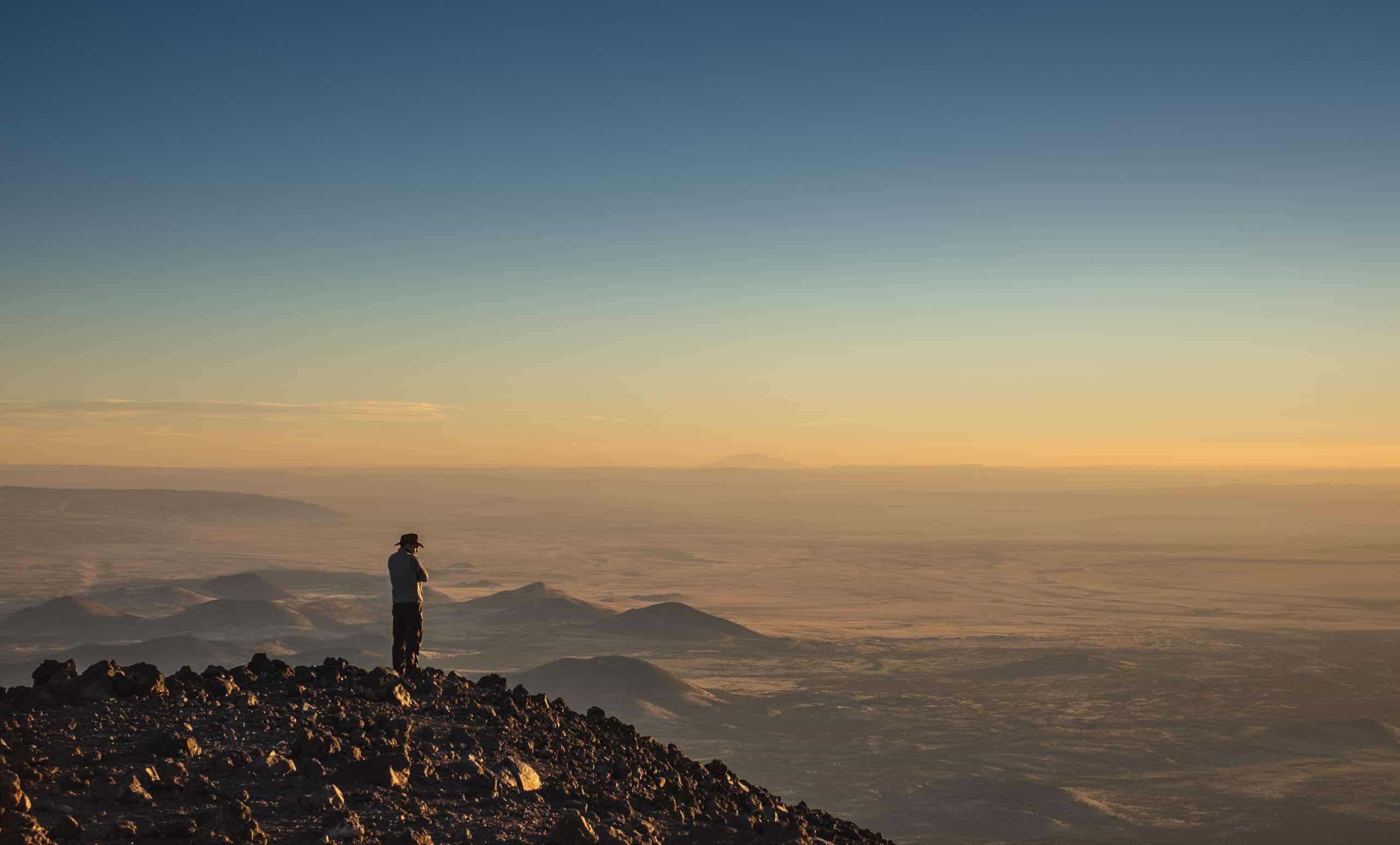 Humphreys trail peak sunset mountain hiking
