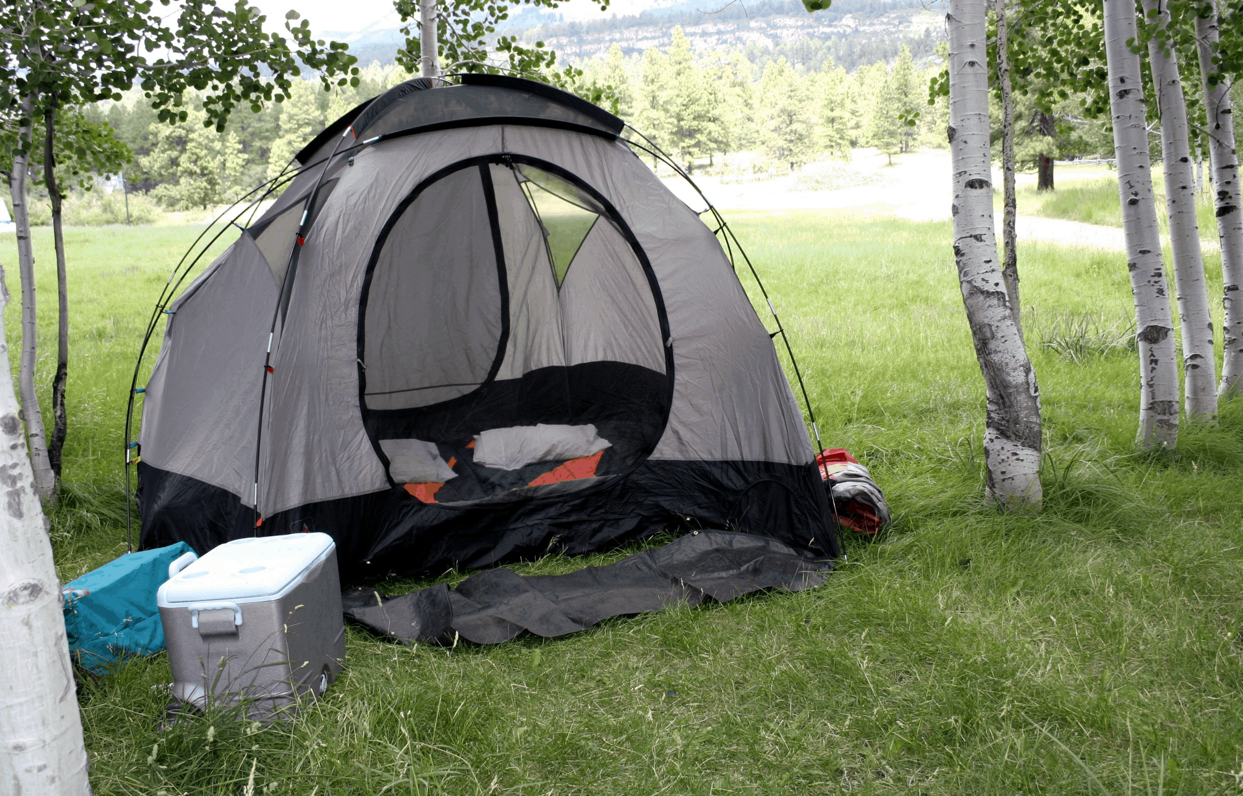 Coolers tent camping