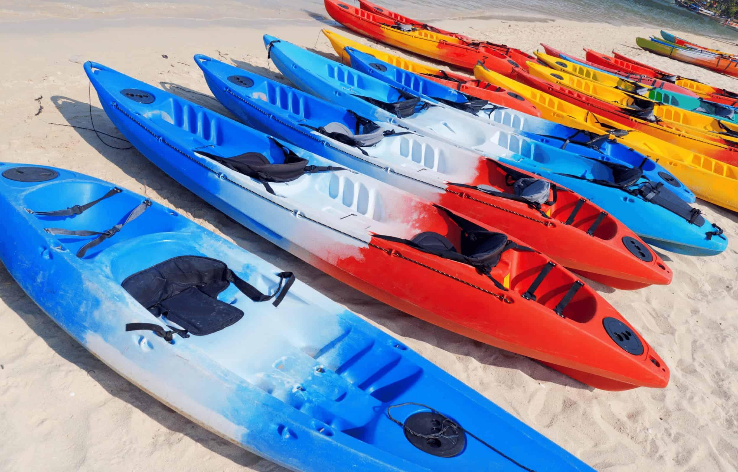 sit on top kayak beach