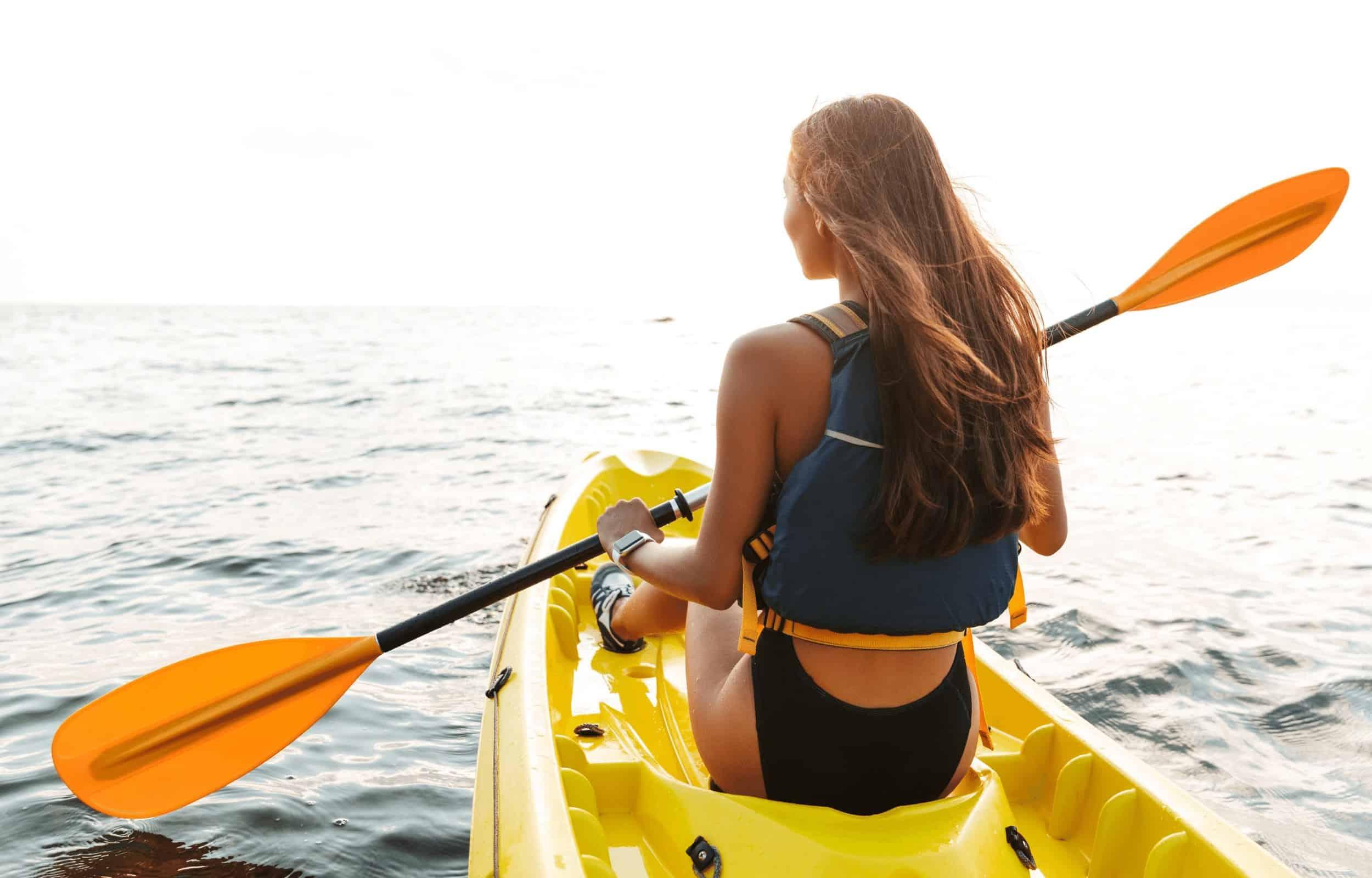 kayak girl ocean