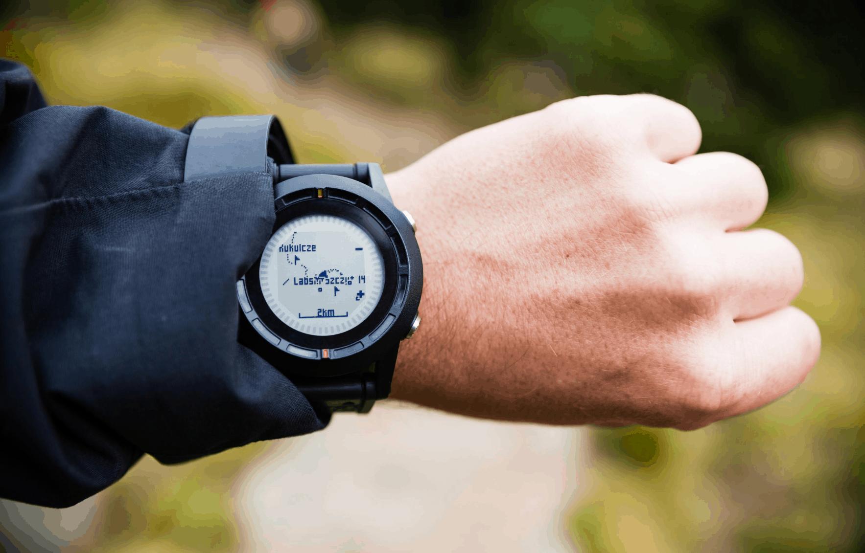 GPS watch hiking