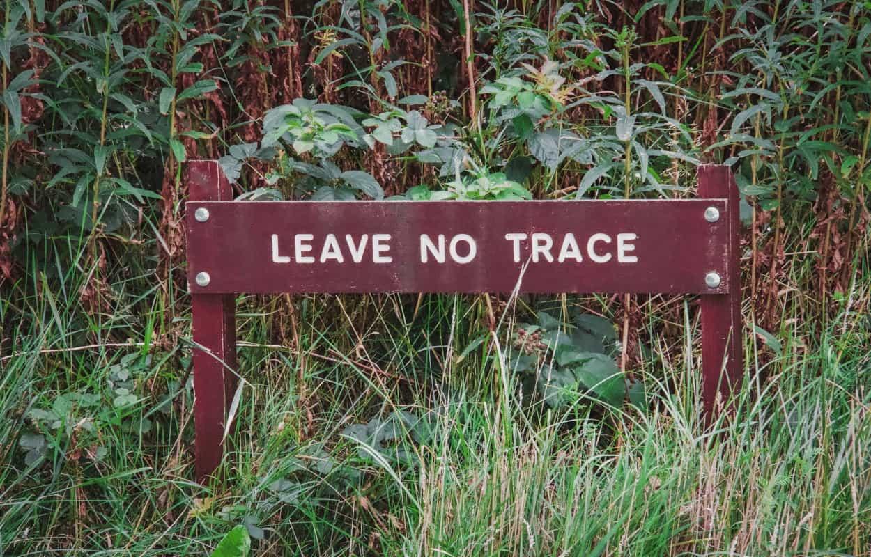leave no trace sigh