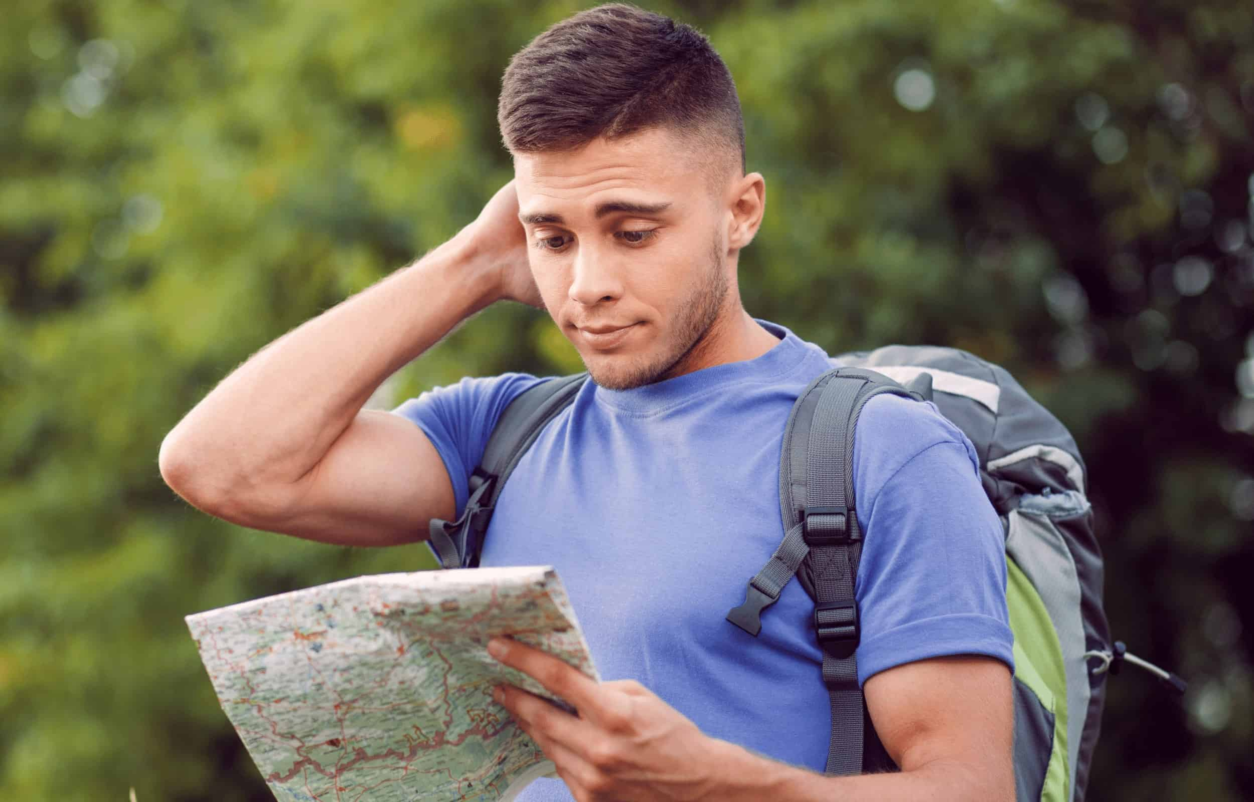hiking alone map lost solo hiker