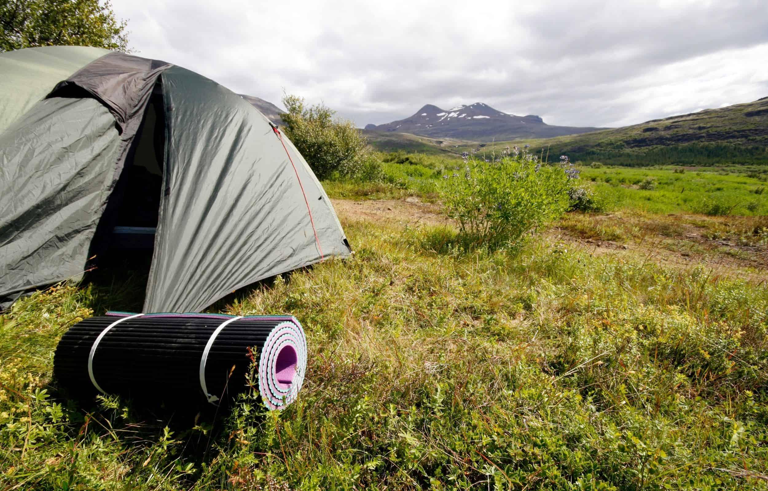 camping mattress pad mountain