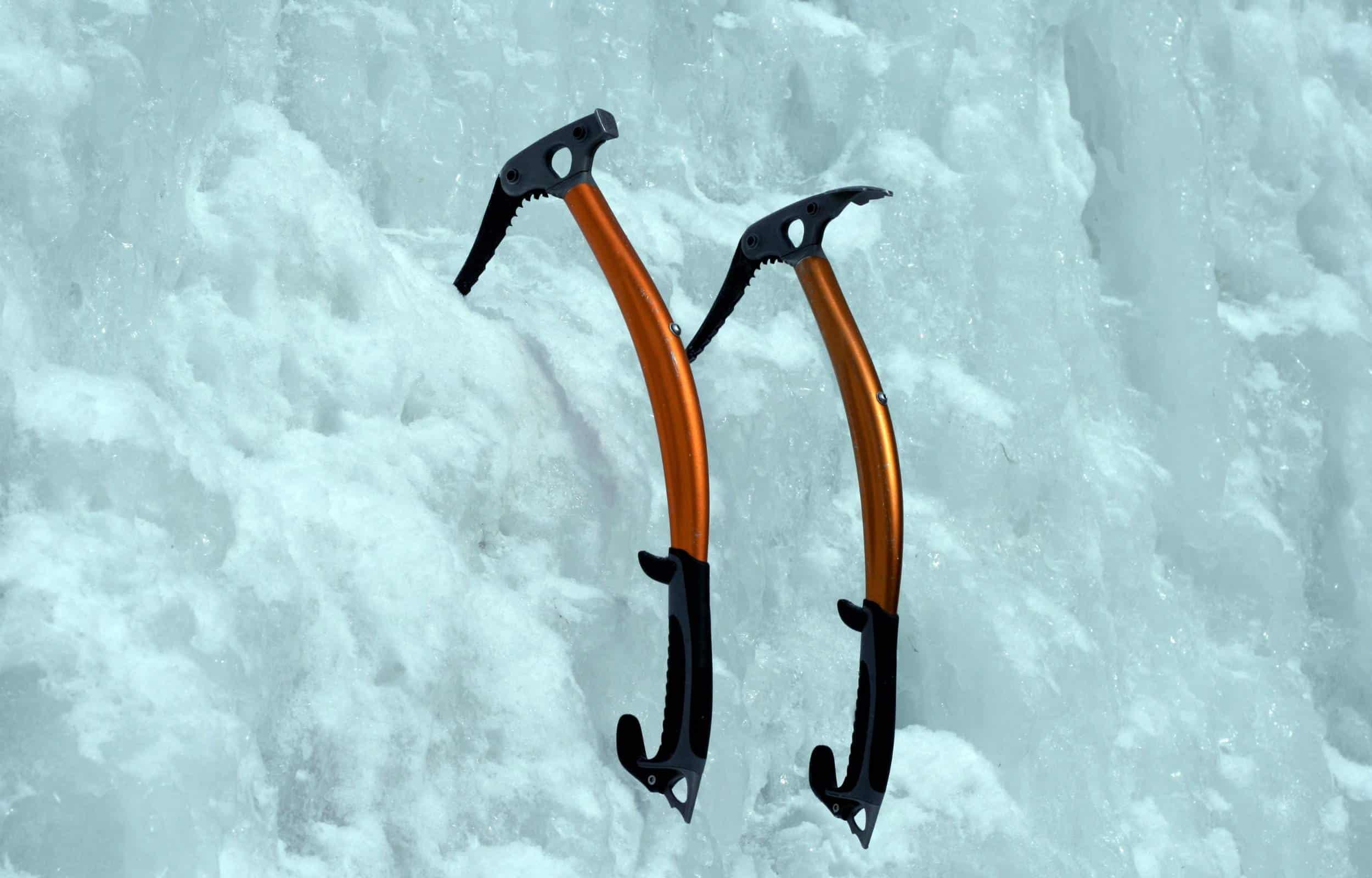 Ice climbing ice ax